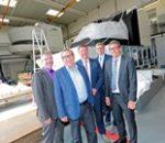 Präsentation eines neuen Flugsimulators bei RWL German Flight Academy GmbH am Flughafen Mönchengladbach