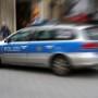 Polizei bei einem Einsatz in der Innenstadt von Kln