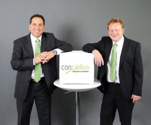 Michael Gubanski (links) und Thomas Raum führen den Automatisierungsspezialisten conradius.