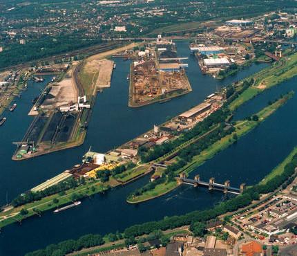 Duisburger Hafen Luftbild