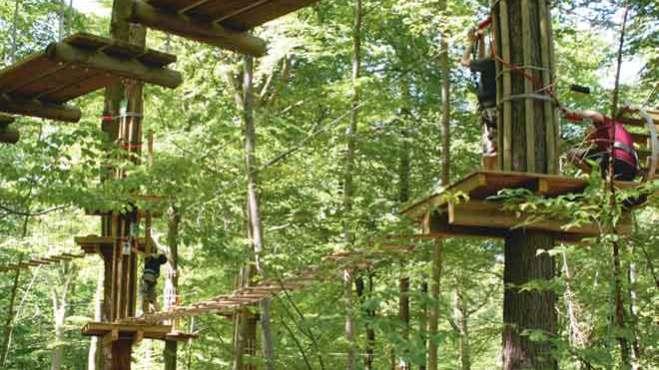Kletterpark Velbert Plattformen