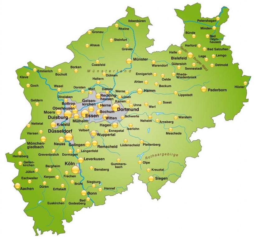 Landkarte Staedte Nrw Nrw Jetzt Wirtschaft Politik Und Leben